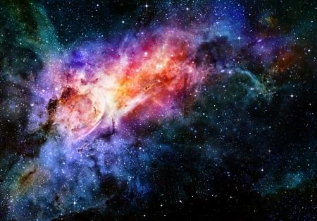 星空の深宇宙の星雲や銀河 写真素材