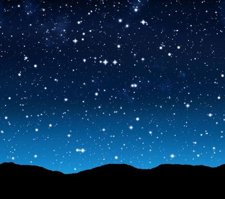 noche estrellada: cielo estrellado por la noche