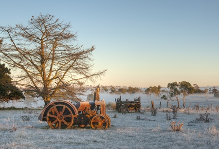 old tractors: old tractor