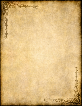 old parchment paper texture with ornate design