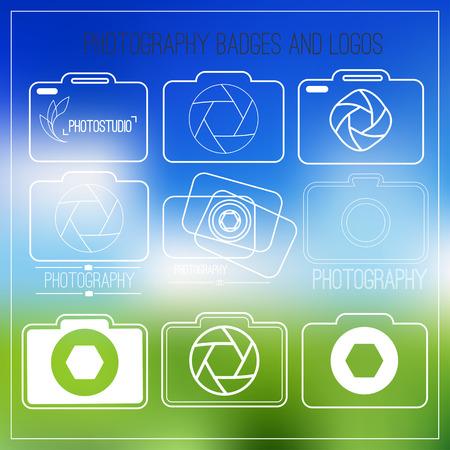 Fotografie icon set.Photography vintage Abzeichen und Symbole. Modernen Massenmedien Icons. Bildetiketten Standard-Bild - 39309556