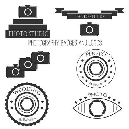 Photography icon set. Vectores