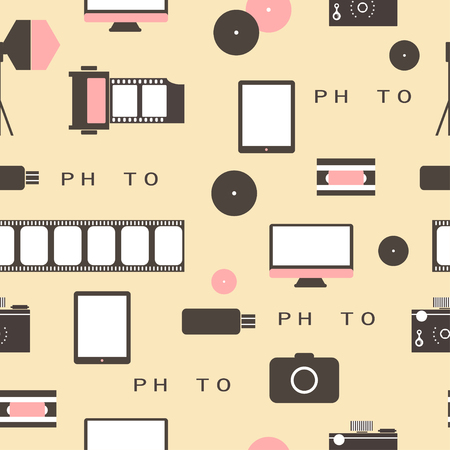 Photo studio. Hipster style. Vector