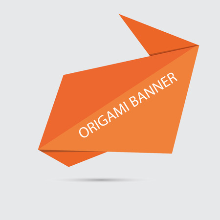 web banner: origami paper speech bubble or web banner