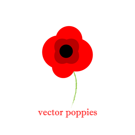 Hand drawn flowers background. Poppies frame.vintage red floral pattern background Vectores