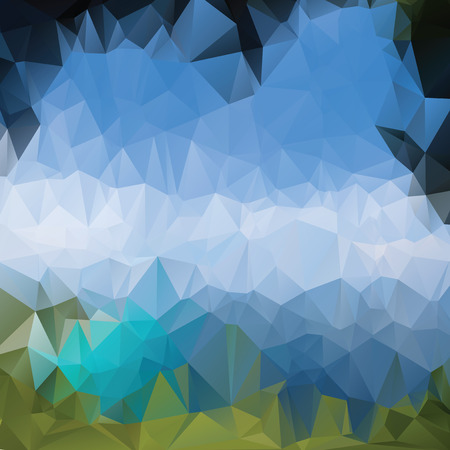 Triangle background, vector polygon art, soft colored abstract illustration. Web mobile interface template. Travel corporate website design. Blurred. Landscape. Instagram style.