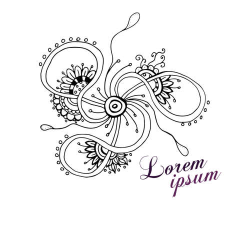 Doodles abstract decorative sketch vector background.Corporate Identity templates set with doodles sketchy