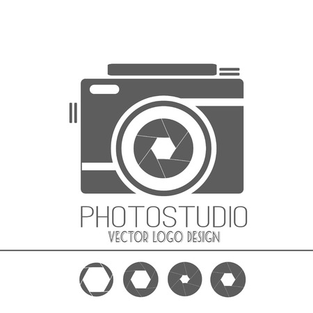 Vektor-Sammlung von Fotografie-Vorlagen. Photocam. Fotografie Klassiker Abzeichen und Symbole. Modernen Massenmedien Icons. Foto labels.logo Standard-Bild - 42495189
