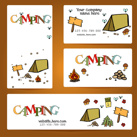Camping - doodles collection.