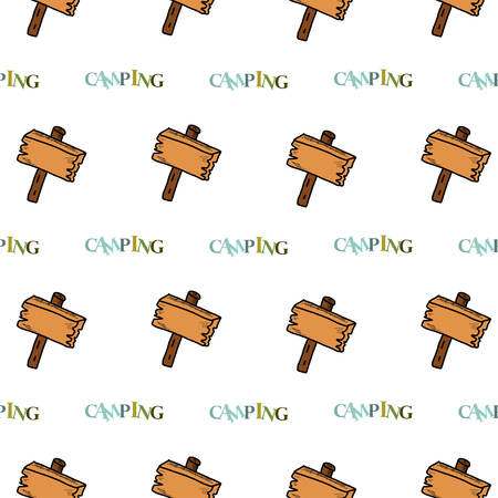 woodpile: Camping - doodles collection Illustration
