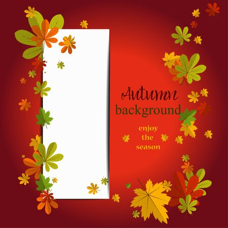 the copy: Seasonal background with maple leaves. Copy space.