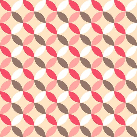 broun: Cute retro abstract seamless pattern.Perfect for decoration postcards, brochures, textiles or paper packaging.Pink, broun and white colors.Ideal for Save The Date, baby shower, valentines day, birthday cards, invitations