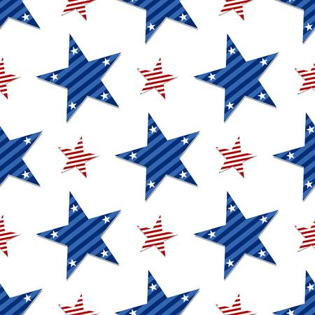 Eine nahtlose Muster von Sternen auf weiß background.Pattic Sterne und gestreifter strukturiertem Stoff Hintergrund, die eine nahtlose und wiederholt ist Standard-Bild - 51063570