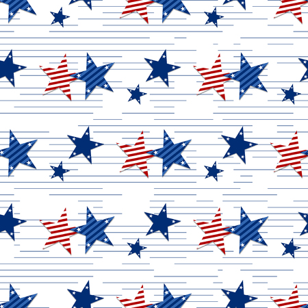 george washington: A seamless pattern of stars on white background.Patriotic Stars and Striped Textured Fabric Background that is seamless and repeats