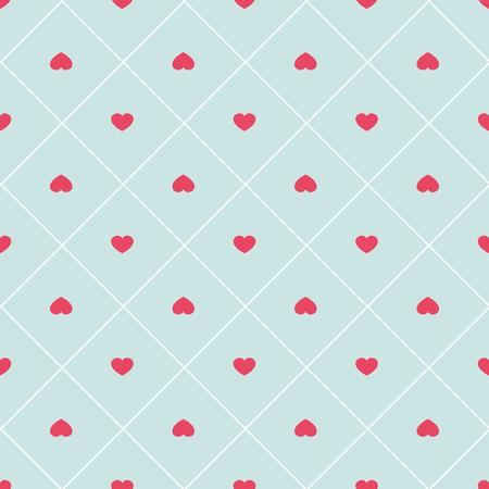 pink wallpaper: Cute retro abstract heart seamless pattern.