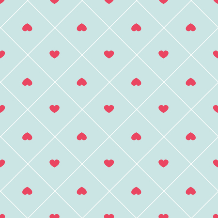 Cute retro abstract heart seamless pattern.