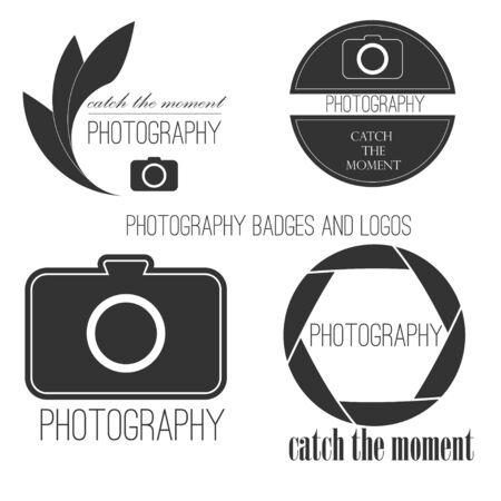 Vector collection of photography logo templates.