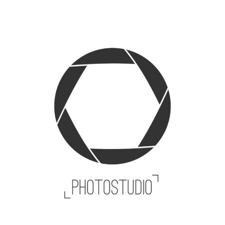 studio logo: Photo studio logo and business card template. Illustration