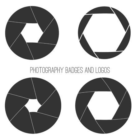 photography logo: Vector collection of photography logo templates.
