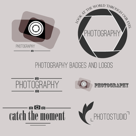photography: Vector collection of photography logo templates.