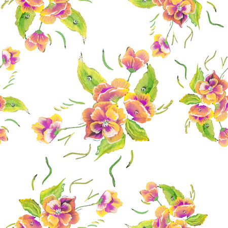 aquarelle painting art: Watercolor Vector Flowers.