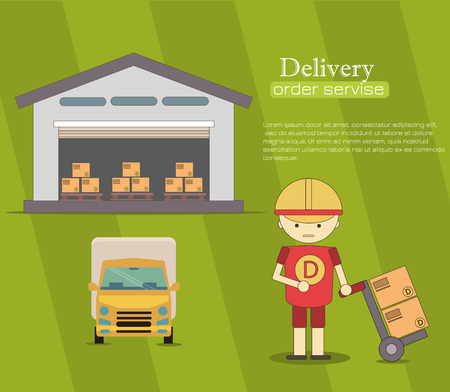 warehousing: Warehousing and Logistic and Delivery banners vector set. Logistic infogaphic set with transport system delivery process vector illustration