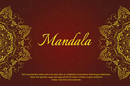 Mandala abstrakten Design-Element. Round Mandalas in Vektor. Grafik-Vorlage für Ihr Design. Dekorative retro Ornament. Set Ethnic FraktalMandala. Standard-Bild