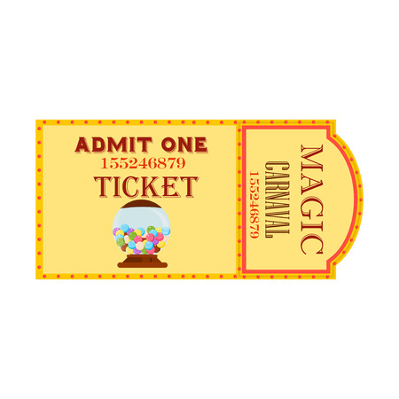 two animals: Circus big magic show with trained animals two vintage entrance tickets templates set abstract isolated vector illustration. Circus tickets entertainment carnival admission.