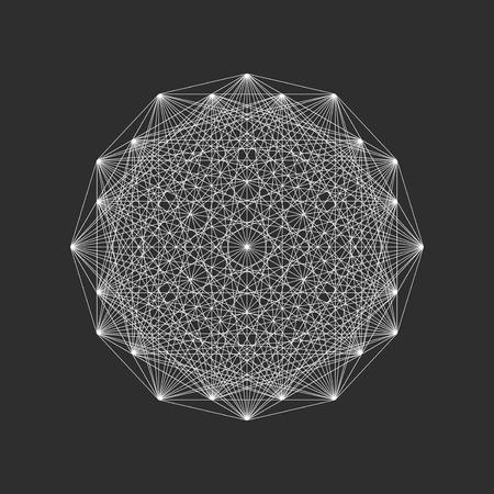 Geometrische vormen tekenen, etiketten en frames driehoeken lijn design elementen vector illustratie. Abstract geometrische vormen en geometrische vormen design. Element lijn ondertekenen geometrische esoterische symbolen.