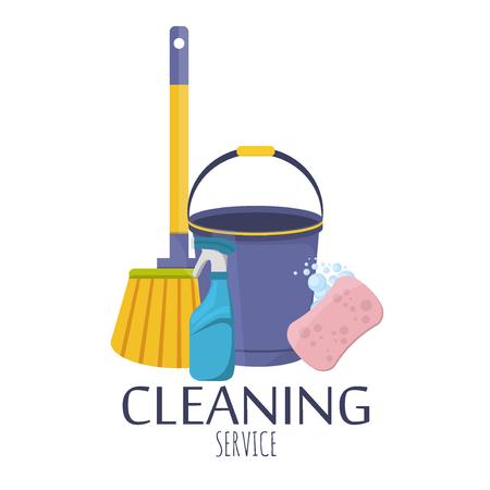 Haushaltsbedarf und Reinigung Flach Symbole gesetzt. Werkzeuge Führung Sauberkeit und Ordnung Haus. Reinigungsmittel Stillleben Haushaltswaren. Haushaltsreinigungsmittel. Werkzeuge von Hausreinigung. Standard-Bild - 57563229