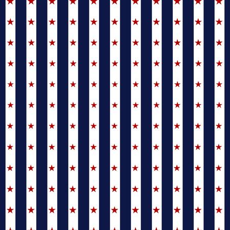 Hapy 독립 기념일 원활한 패턴입니다. 기념일. 7 월 4 일. 미국 배경 집합입니다. 전통적인 빨강, 파랑 및 흰색 색상의 원활한 패턴의 컬렉션입니다. 미국