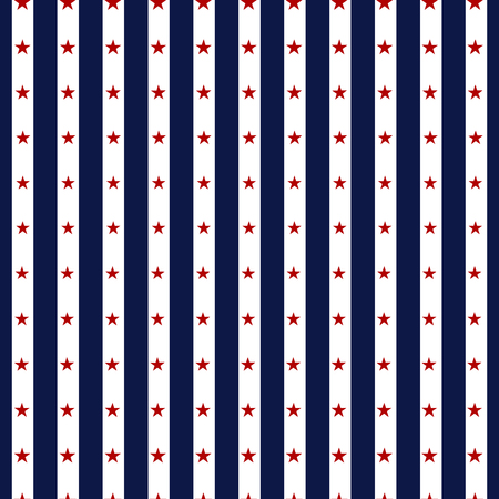 Hapy Independence Day seamless pattern . Memorial day. 4th of July. Set of American backgrounds. Collection of seamless patterns in traditional red, blue and white colors. USA flag vector.