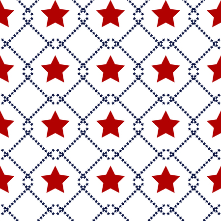 Happy Independence Day seamless pattern . Memorial day. 4th of July. Set of American backgrounds. Collection of seamless patterns in traditional red, blue and white colors. USA flag vector. 일러스트