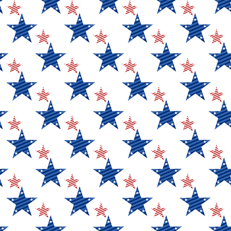 Happy Independence Day seamless pattern . Memorial day. 4th of July. Set of American backgrounds. Collection of seamless patterns in traditional red, blue and white colors. USA flag vector. Vectores