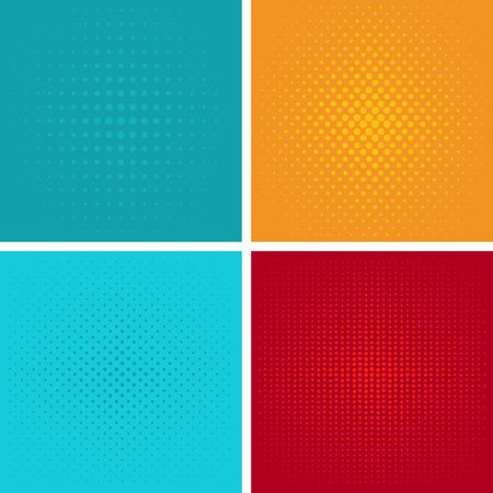 Dotted, Pop Art Background. Symbolic pop art background of 1960s. Comic design graphic halftone pop art background. Dot color bubble element blank communication set. vector pop art pattern background.