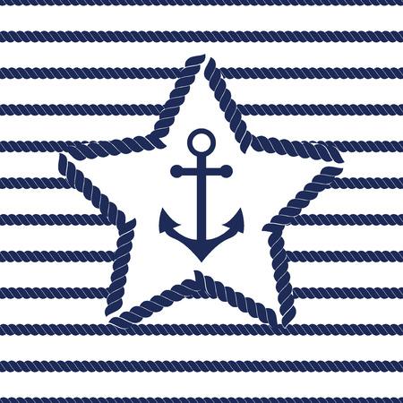 Set of sea and nautical seamless patterns. Vector illustration nautical pattern abstract textile sailor summer anchor symbols. Travel nautical seamless pattern geometric style ornament. Vectores