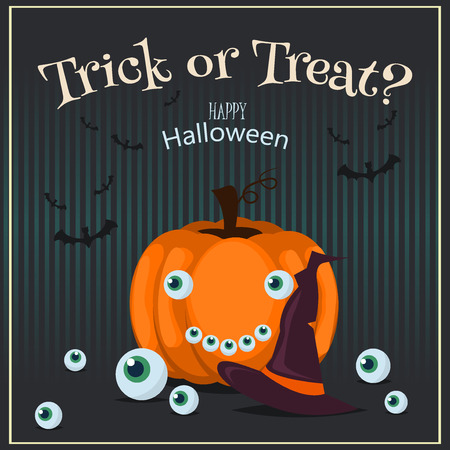 Halloween Posters set party invitation spooky holiday. Vector illustration Halloween poster night evil autumn celebration. Scary horror halloween poster card design. Celebration poster scarry banner.