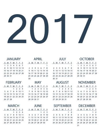 2017 calendar monthly