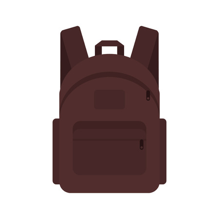 suitcase packing: Bag pack traveler marching backpack student briefcase. Vector illustration bag pack travel baggage voyage schoolbag. Trip suitcase tourism journey icon bag pack vacation packing case.