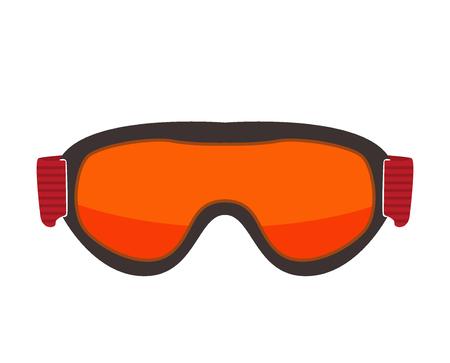 eyewear fashion: Ski glasses or ski goggles isolated. Winter snow sport glasses ski mask sun protection. Vector safety ski glasses winter sport equipment. Fashion goggles or ski glasses outdoor activity sportswear.