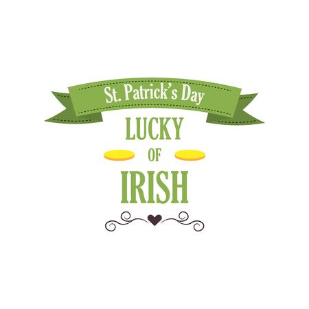 Typographic Saint Patricks Day vector badge.