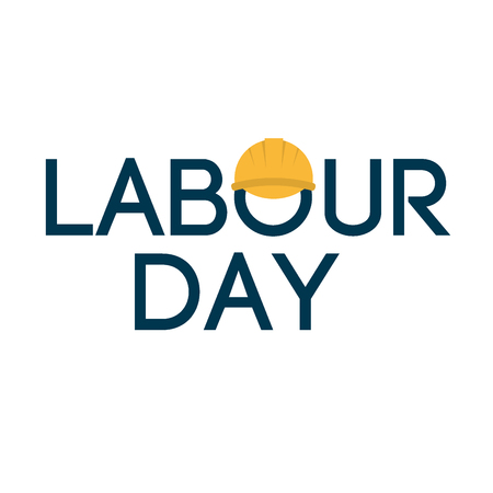 Grunge background Labor Day typography engineer occupation vector illustration. Illustration