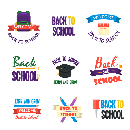 clearence: Back to school calligraphic designs label style elements sale clearance vector illustration. Back to school logo template design university banner text.