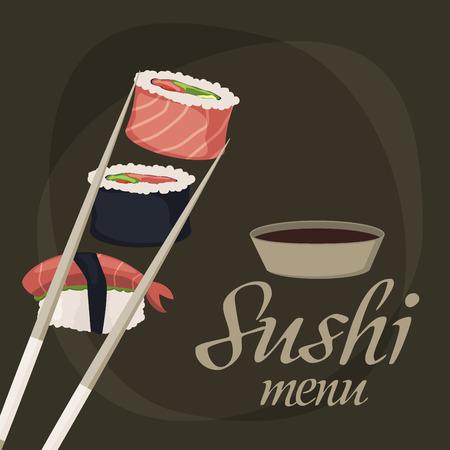 Sushi Rolls Sashimi Seafood Fish Rice Background Japanese Food