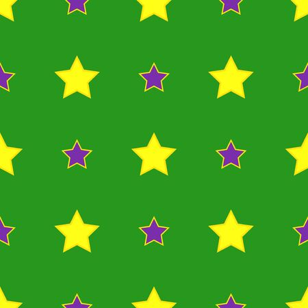 Mardi Gras carnival party vector seamless pattern background. Masquerade celebration festival poster design holiday green brochure.