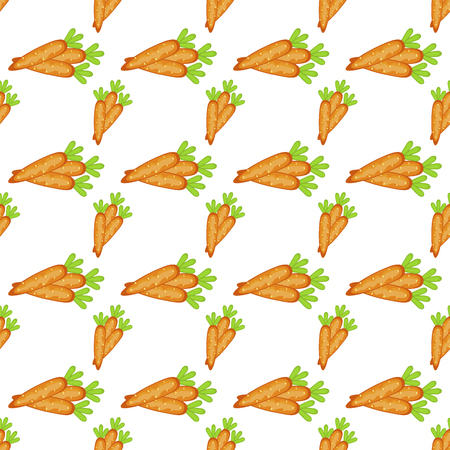 Easter carrot vector cartoon seamless pattern background. Holiday decoration spring celebration traditional greeting symbols. Illustration
