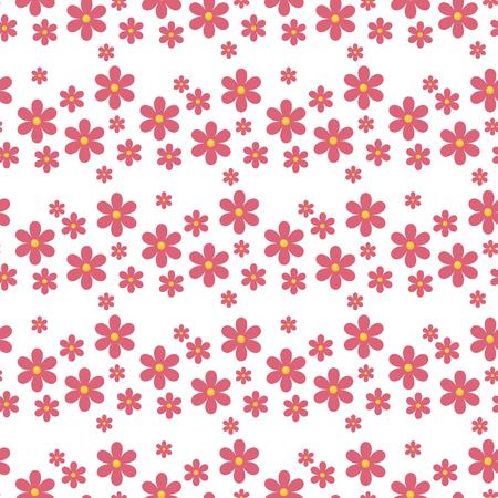 Blumenmustervektor nahtlos mit der leichten Frühlingsfloratapeten-Textildesign-Naturblüte der Blumen, die Verzierung einwickelt. Romantische dekorative rosafarbene Blütenwiederholungsbeschaffenheit. Standard-Bild - 95992199