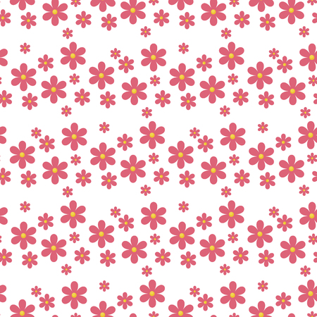Floral pattern vector seamless with flowers gentle spring flora wallpaper textile design nature blossom wrapping ornament. Romantic decorative rose pink bloom repeat texture.