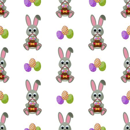Easter holiday decoration pattern. Illustration