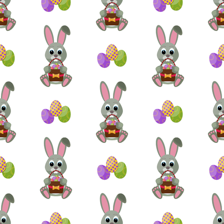 Easter holiday decoration pattern. Vectores